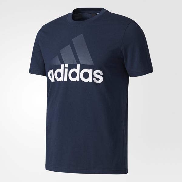 Футболка мужская adidas Ess Linear Tee, цвет: темно-синий. S98732. Размер S (44/46) desire invinsible 5 мл духи с феромонами для мужчин