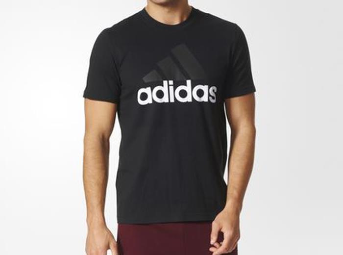 Футболка мужская Adidas Ess Linear Tee, цвет: черный. S98731. Размер XL (56/58) футболка мужская adidas rfu 3s tee цвет красный cd5275 размер s 44 46