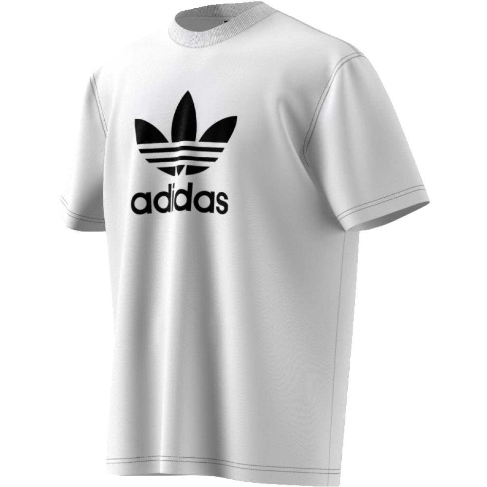 Футболка мужская Adidas Trefoil T-Shirt, цвет: черный. CW0710. Размер XL (56/58)CW0710Эффектная мужская футболка, вдохновленная яркими цветами архивной коллекции adidas 1983 года. Эта модель отдает дань уважения легендарному трилистнику. Главный символ бренда создает крупный контрастный акцент на груди. Классический рифленый круглый ворот и ультрамягкий хлопковой трикотаж.