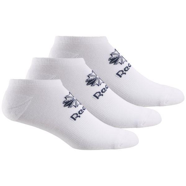 Носки Reebok Cl Fo No Show Sock, цвет: белый, 3 пары. CV8659. Размер 47/50 носки minecraft socks 3 pack green зеленые s 3 пары 11750