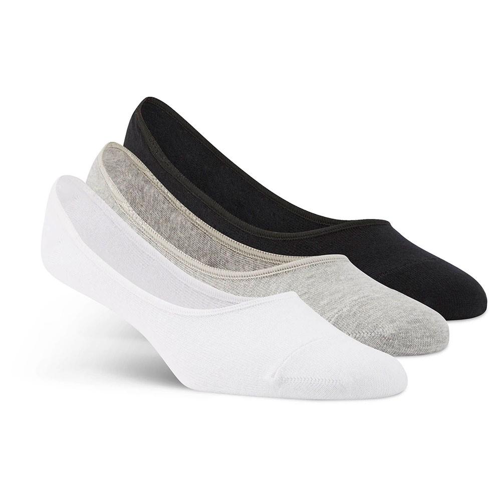 Носки женские Reebok Se U Invisible Sock, цвет: белый, серый, черный, 3 пары. AY6265. Размер 43/46