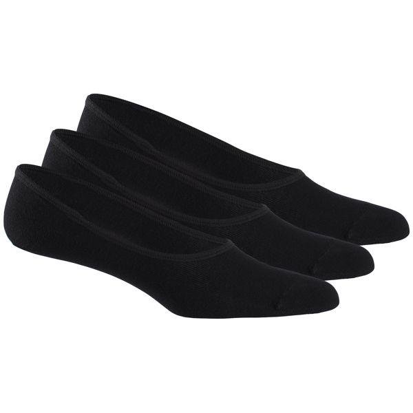 Носки женские Reebok Se U Invisible Sock, цвет: черный, 3 пары. AJ4163. Размер 47/50 носки reebok se u ank sock 3p цвет белый 3 пары aj6248 размер 35 38