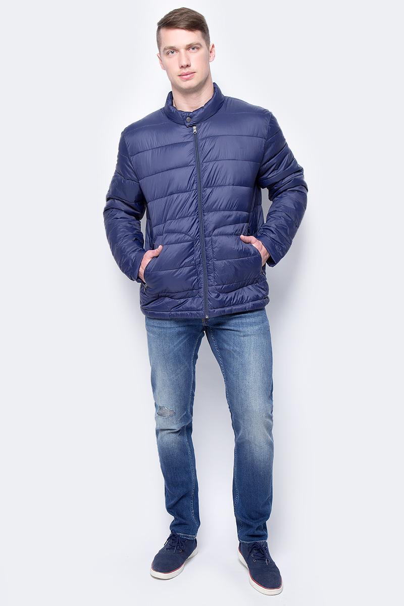Купить Куртка мужская Mustang Down Jacket, цвет: темно-синий. 1003822-5226. Размер S (46)
