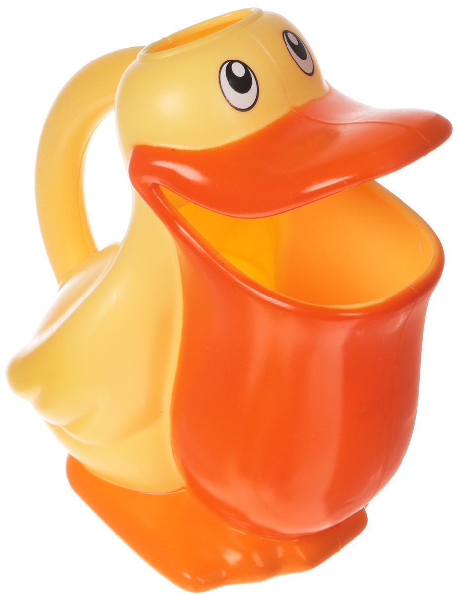 Ути Пути Игрушка для ванной цвет желтый оранжевый 61551 ути пути разв игрушка пищалка лягушонок 20 см