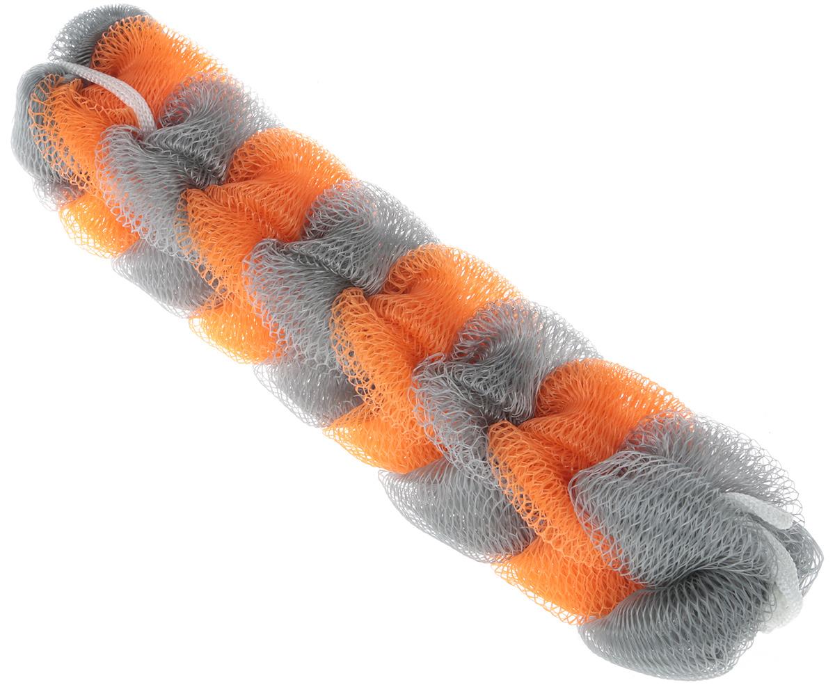 BioCos Мочалка для тела Косичка, цвет: оранжевый, серый5955_оранжевый, серыйМочалка для тела BioCos Косичка обладает тонизирующим эффектом. Подходит для ежедневного применения. Деликатно и нежно очищает кожу, легко вспенивает даже небольшое количество геля или мыла. Обладает приятным отшелушивающим эффектом, мочалка массирует кожу, снимая усталость и напряжение. Служит долго, сохраняя свою первоначальную форму.Перед использованием размочить в горячей воде. После применения тщательно промыть под струей воды и высушить.Состав: безузловая сетка.