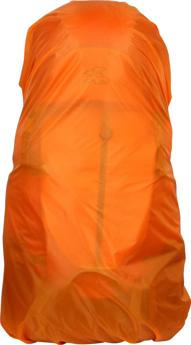 Накидка на рюкзак Сплав, цвет: оранжевый, 65 л5015475Сверхлегкий влагозащитный чехол для рюкзаков.Ткань - «силиконка», очень легкий нейлоновый силиконизированный материал. Сшит из одной детали, швы только по периметру. Периметр стягивается эластичным шнуром, регулируемым с помощью фиксатора. На шнуре расположены три крючка-карабина, которые можно пристегнуть друг к другу или элементам рюкзака на спине.В комплекте простой чехол в виде мешка, утягивающегося шнуром на фиксаторе, концы шнура образуют ручку для переноски. Внутри чехла небольшая петля из тесьмы для пристегивания к снаряжению.Применим для рюкзаков используемых без обвески.Основная ткань: Nylon 30D*30D Ripstop Si/Si 2000 мм.Плотность материала: 45 г/м2.Нитки: 100% нейлон.65 (95) л (совместим с рюкзаками от 60 до 70 л).