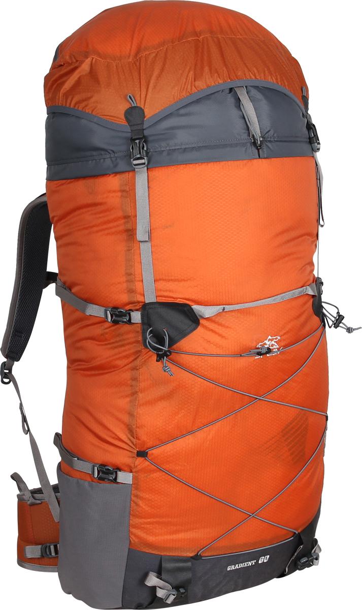 Рюкзак туристический Сплав Gradient, цвет: оранжевый. 50182755018275Очень легкий небольшой трекинговый рюкзакОтличия V.2 от Gradient 60:Выпускается в 2 размерах – S (на рост до 170 см) и L (175-190 см) Каркас спины выполнен более жестким Съемный пояс Отсутствие карманов на поясе Рюкзак не должен быть тяжелее своего содержимого!Однако добиваясь повышенной прочности и улучшая свойства подвесной системы, производителям приходится слегка «отпускать» другие параметры. Так что, оставим экспедиционным и водным рюкзакам право на некоторый собственный вес, и поговорим об удобных рюкзаках для легкоходов.«Gradient» - это среднеобъемный рюкзак для походов в альпийском стиле, треккинга, подходов к скальным маршрутам и прогулок по ледникам. Он сочетает в себе поразительную легкость с продуманной системой подвески и грамотной организацией полезного объема.Основное достоинство рюкзака в общей сбалансированности таких параметров, как – вес(1.1кг)\объем\ функциональность\ распределение веса и удобство.От первой версии Gradient 60 v.2 оличается тем, что выпускается в двух вариантах, в расчете на разный рост – S (на рост до 170 см) и L (175-190 см), имеет более жесткий каркас и съемный пояс. Карманы на поясе в этом варианте отсутствуют.Сверхлегкий каркас из напряженного стеклопластикового прутка создает необходимую жесткость, а крупноячеистая сетка в сочетании с тонкими профилированными уплотняющими накладками обеспечивает вентиляцию спины.Поясной ремень и лямки (с регулируемой грудной стяжкой) анатомической формы с мягкой вентилируемой подкладкой из сетки Airmesh Coolmax. Грудная стяжка с амортизационной вставкой.На лямках рюкзака также есть петли для дополнительных карманов (в комплект не входят!)Для лучшего распределения нагрузки стропы лямок вшиваются не непосредственно в шов, а в треугольную полосу ткани.Объемный тубус из прочного силиконизированного нейлона фиксируется верхней стяжкой.Клапан «плавающий», съемный и может использоваться в качестве поясной сумки.Два больших боковых 