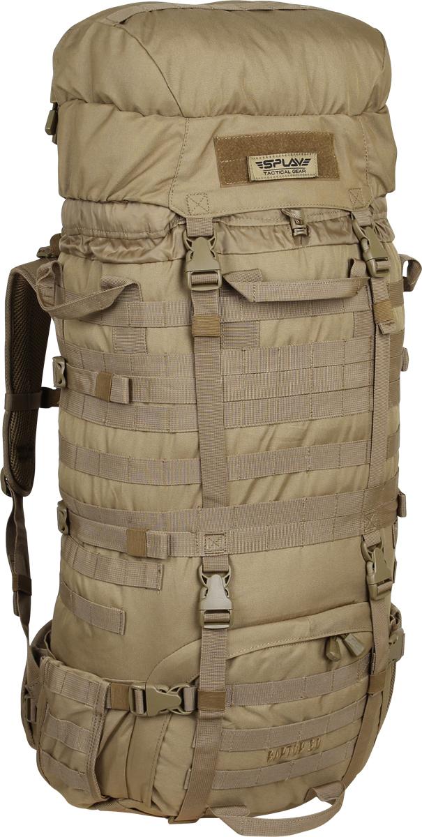 Рюкзак туристический Сплав Raptor, цвет: бежевый, 60 л. 50211255021125Рейдовый рюкзак для длительных переходов. Классическая туристическая модель, адаптированная для военного использования.Съемные, регулируемые по высоте лямки. Большая ширина, анатомический силуэт. Два слоя пены и сетка Airmesh для мягкости и вентиляции. Верхние оттяжки. Ячейки PALS для крепления подсумков выполнены методом лазерной резки в усиленной ткани, что обеспечивает лямкам тонкий профиль и плоскую поверхность, не мешая прикладке оружия.Cпинка рюкзака благодаря многослойной структуре имеет высокую жесткость и обеспечивает отличную вентиляцию. Внутри вертикальные карманы для съемных лат. Спина имеет правильную анатомическую форму.Единый полнообъемный силовой каркас из строп, усиленная конструкция нижнего крепления лямок.Вся свободная внешняя площадь рюкзака обшита стропами MOLLE.На передней части клапана карман для крепящегося снаружи двухстороннего бейджа. Одна сторона – для удостоверения (прозрачный карман), другая – светоотражающая. Бейдж крепится на липучке, ее же можно использовать для шевронов. В комплекте съемный логотип на липучке Съемный широкий пояс. Боковые оттяжки, ячейки MOLLE для навески подсумков.Нижние боковые карманы-упоры с регулировкой объема. Тубус с двумя утяжками и двумя компрессионными ремнями. Съемный регулируемый по высоте клапан с внешним объемным карманом на молнии.В комплект входит защитная накидка, расположенная в отдельном кармане клапана.Точки крепления дополнительного груза на дне и клапане.Объем: 60 л. Вес: 2,36 кг. Основное отделение: 38 x 75 x 20 см.Карман на клапане: 30 x 20 x 9 см.Основная ткань: Polyester 600D. Фурнитура: Duraflex.