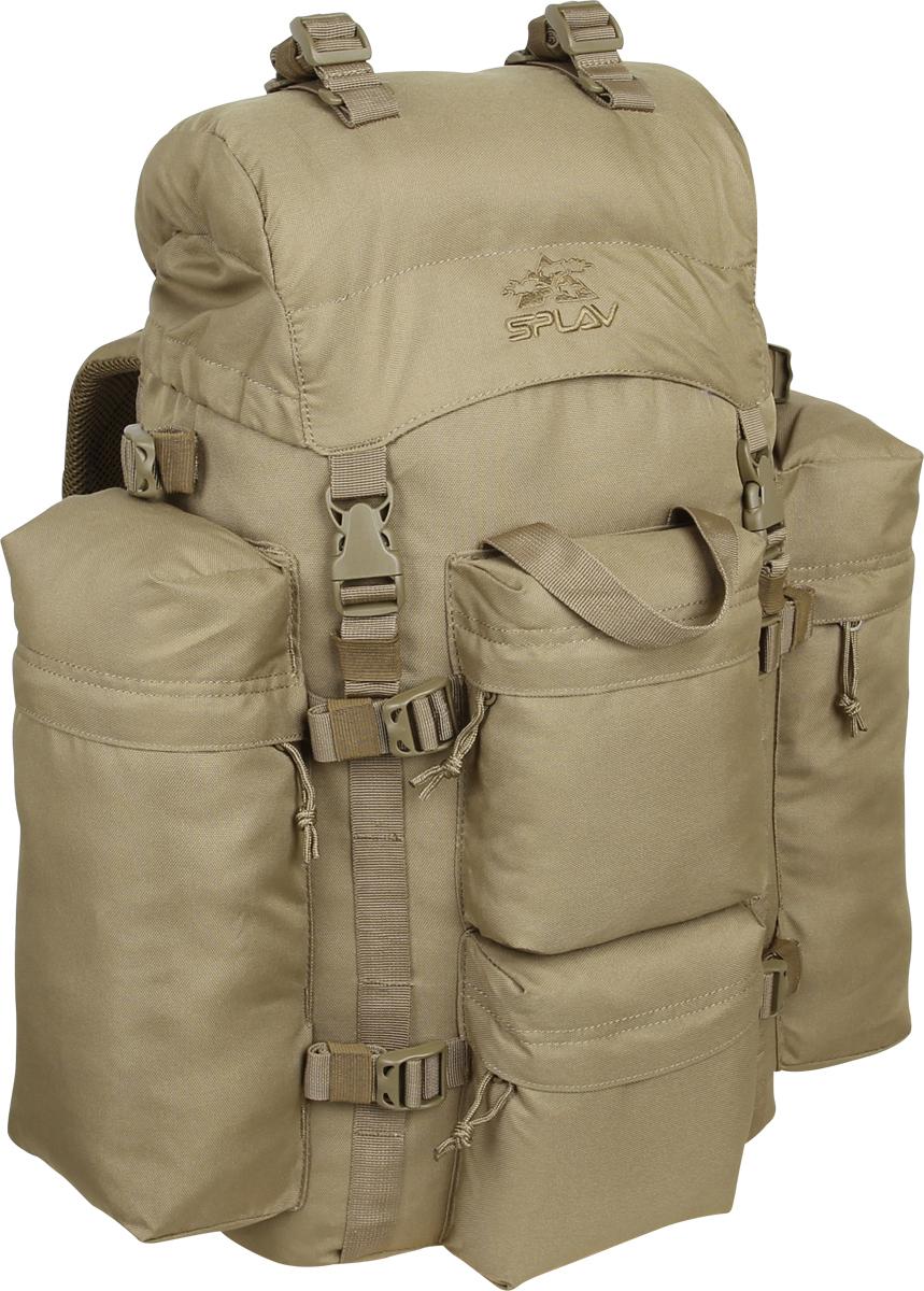 Рюкзак туристический Сплав, цвет: бежевый, 43 л. 50224255022425Удобный, легкий рюкзак с множеством внешних карманов Сплав.Обновленная спинка рюкзака благодаря многослойной структуре имеетвысокую жесткость и обеспечивает отличную вентиляцию. Объемный карманв клапане. Карман для документов на внутренней стороне клапана.Анатомический крой лямок. Грудная стяжка. Съемный пояс из широкойстропы. Два больших боковых кармана на молнии. Два малых фронтальныхкармана на молнии. Боковые карманы рюкзака пришиты только повертикальным краям, так что между ними и рюкзаком образуются плоскиеотделения со входом сверху для переноски длинномерных грузов. Вышекарманов нашиты утяжки для надежного закрепления этих грузов. Ячейки налямках рюкзака позволят разместить рацию, GPS или другое оборудование, атакже закрепить дополнительные подсумки в максимально удобных длябыстрого доступа местах. Дополнительные точки крепления груза на клапанеи дне рюкзака и съемные стяжки в комплекте.Основное отделение (ШxВxТ): 32 x 55 x 16 см. Верхний передний карман (ШxВxТ): 15 x 18 x 5 см. Нижний передний карман (ШxВxТ): 15 x 18 x 5 см. Боковой карман (2 шт) (ШxВxТ): 14 x 32 x 8 см. Карман на клапане (ШxВxТ): 28 x 20 x 5,5 см.