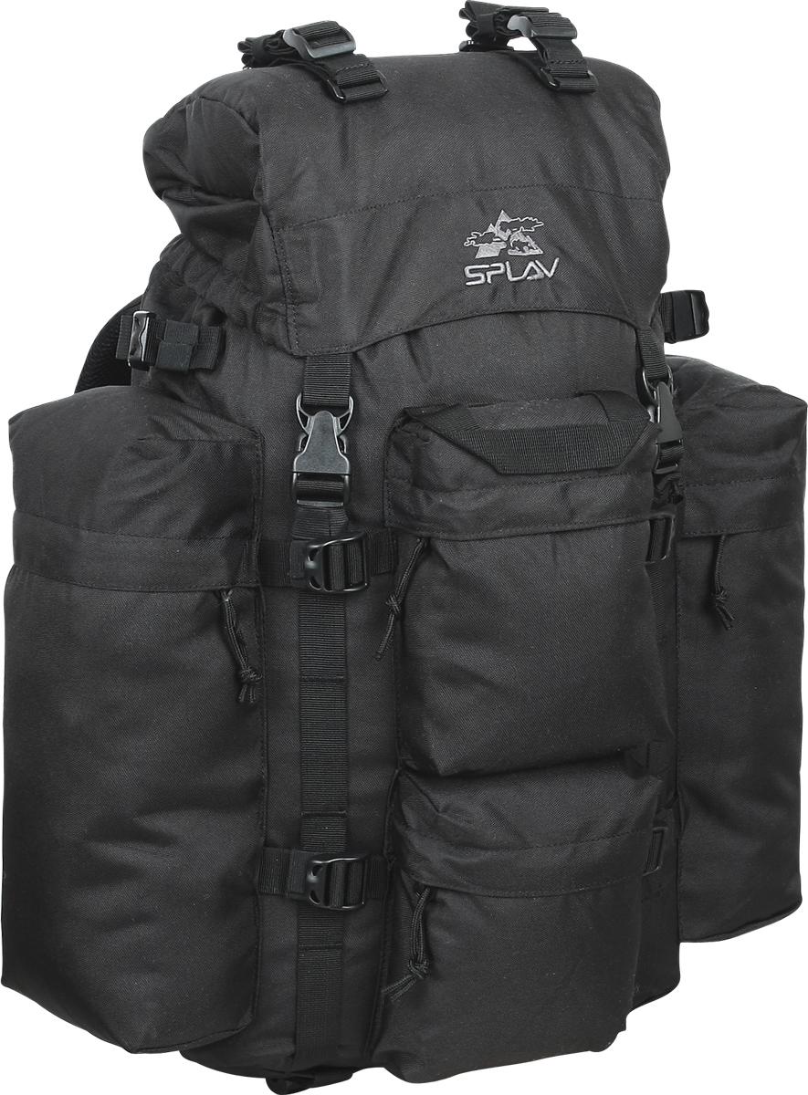 Рюкзак туристический  Сплав , цвет: черный, 43 л. 5022437 - Туристические рюкзаки