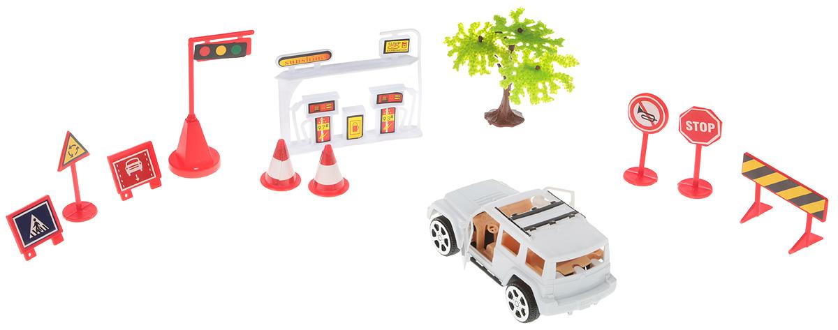 ABtoysИгровой набор Автозаправка цвет белый ABtoys
