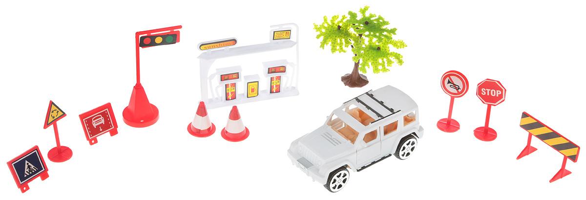 ABtoys Игровой набор Автозаправка цвет белый игровой набор village story  малыш мышонок с кроваткой