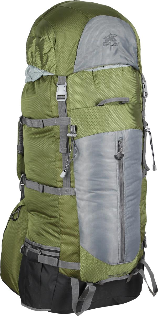 Рюкзак туристический Сплав Bastion, цвет: зеленый, 130 л. 50205020Облегчённый трекинговый рюкзак. За счет новой конструкции спины (без использования металлических лат) и использования более легкой ткани, удалось снизить вес рюкзака. Новая спинка рюкзака благодаря многослойной структуре имеет достаточную жесткость и обеспечивает отличную вентиляцию. Точки крепления треккинговых палок или ледоруба. Нижние боковые карманы-упоры с регулировкой объема. Удобный фронтальный карман обтекаемой формы с вертикальной молнией. Боковые карманы на молнии позволяют получить доступ к их содержимому, не снимая рюкзака. Две ручки с фронтальной стороны и одна сзади для погрузки/разгрузки рюкзака.Объем: 130 л. Вес: 2,10 кг. Размер основного отделения.: 42 x 82 x 25 см. Размер клапана: 42 x 18 x 25 см. Используемые ткани: Polyester 450D / 330D R/S. Фурнитура: Duraflex.