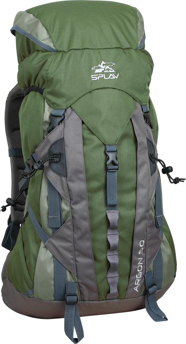 Рюкзак туристический Сплав Argon, цвет: зеленый, 50 л. 5026750 рюкзак туристический сплав voyager 130 v 2 цвет синий серый 130 л