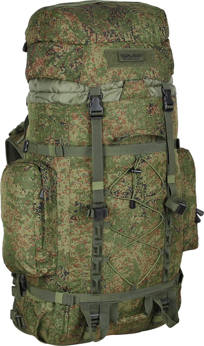Рюкзак туристический Сплав Goblin , цвет: зеленый. 50274985027498Среднеобъемный универсальный рюкзак Съемные, регулируемые по высоте лямки. Большая ширина, анатомический силуэт. Два слоя пены и сетка Airmesh для мягкости и вентиляции. Верхние оттяжки. Ячейки PALS для крепления подсумков выполнены методом лазерной резки в усиленной ткани, что обеспечивает лямкам тонкий профиль и плоскую поверхность, не мешая прикладке оружия Cпинка рюкзака благодаря многослойной структуре имеет высокую жесткость и обеспечивает отличную вентиляцию. Внутри вертикальные карманы для съемных лат Съемный широкий пояс. Боковые оттяжки Съемный регулируемый по высоте клапан (объем 2,6 л), внешнее отделение на молнии, отделение для гермочехла и скрытое отделение под клапаном Боковые карманы (по 2,3 л) на молнии Нижние боковые карманы-упоры Дополнительные точки крепления груза на дне и передней поверхности Точки крепления скального оборудования Четыре ручки для погрузки/переноски рюкзака Объем: 70 л Вес: 2,4 кг Основное отделение (ШxВxТ): 35x80x22 см Боковой карман (2 шт) (ШxВxТ): 18x29x6 см Карман на клапане (ШxВxТ): 28.5x21x8.5 см Основная ткань: Polyester 600D Фурнитура: Duraflex