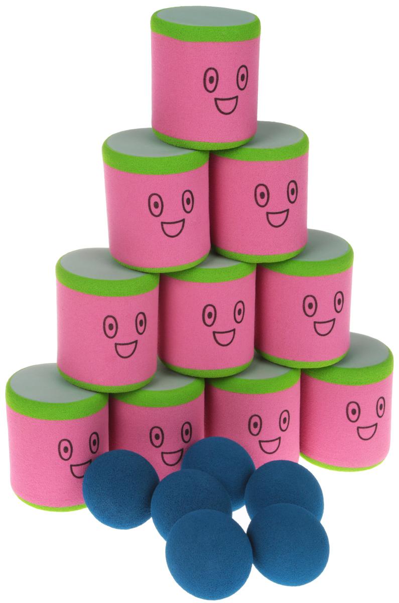 Safsof Игровой набор Городки цвет розовый, салатовый, синий