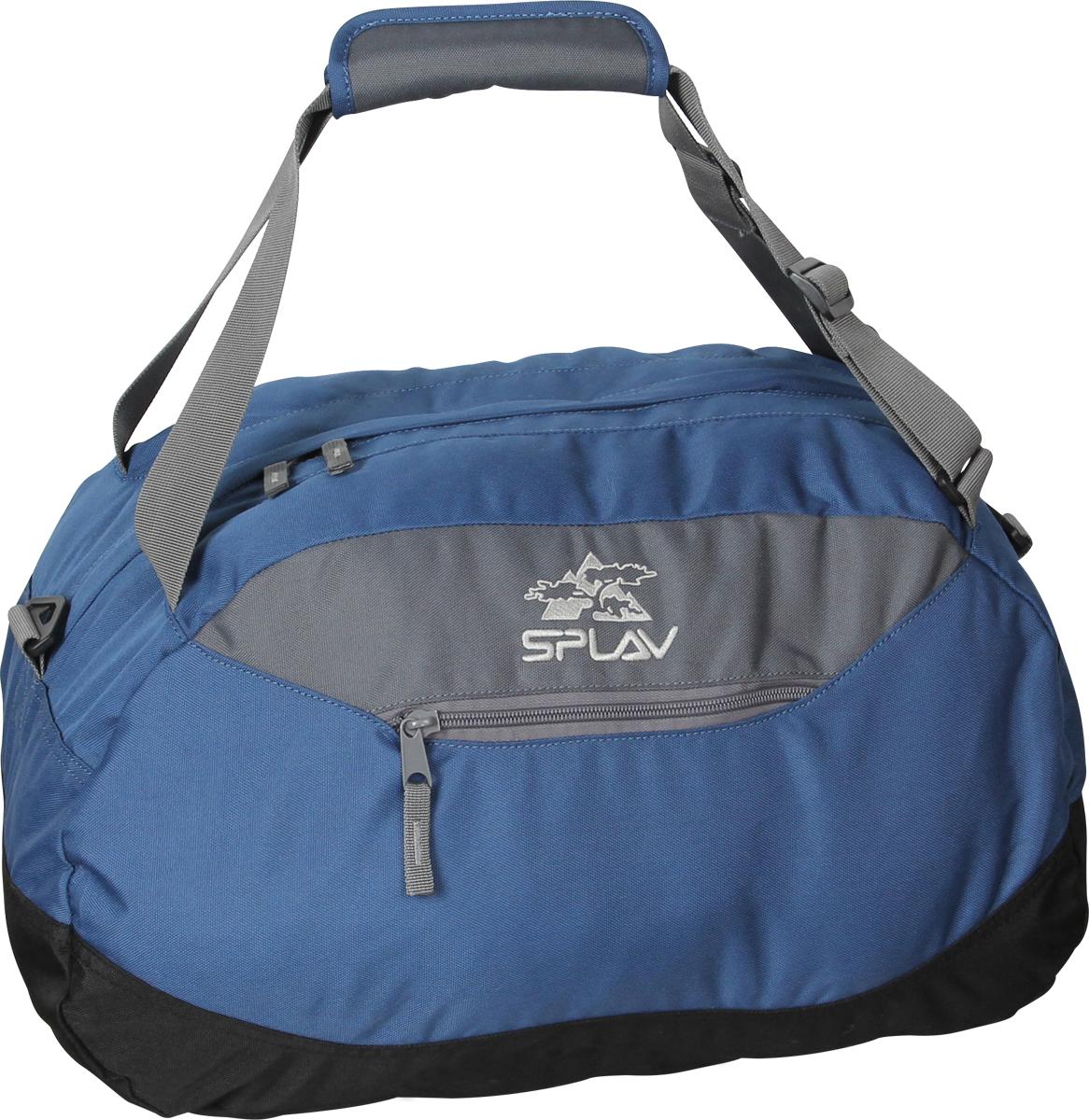 Сумка Сплав Paladin, цвет: синий. 50605605060560Лёгкая спортивная сумка.Небольшой боковой кармашек на молнии. Съемная плечевая лямка. Вечерние тренировки, поездки на выходные, командировки и путешествия… Она легко умещается на багажных полках самолетов и трансатлантических лайнеров, компактно укладывается в багажник машины, удобно ложится в руку или устраивается на вашем плече.Собственный вес сумки всего 428 г.Регулируемые плечевые лямки позволяют носить сумку за спиной, как рюкзак, и компактно стягиваются, чтобы не мешать при погрузке. В случае ручной переноски сумки, лямки можно собрать вместе при помощи накладки на липучке.Съемная плечевая лямка обладает достаточной шириной (40мм), чтобы не давить на плечо.Занимая в сложенном виде гораздо меньше места, чем рюкзаки и чемоданы, эта сумка имеет достаточный внутренний объем, для того, чтобы вместить вещи для коротких поездок, ручную кладь во время перелетов или форму для спортивных тренировок.Удобно расположенный небольшой кармашек на молнии незаменим для документов и мелочей.Сумка изготовлена из прочного современного материала, который рассчитан на серьезные нагрузки, обладает водоотталкивающим эффектом, не выгорает и неприхотлив в уходе.Качественная фурнитура никогда не подведет в самый ответственный момент, и вам не придется расстегивать молнию пассатижами или связывать стропы хитрыми узлами.Вес: 428 г. Размеры: 50x30x25 см. Ширина плечевой лямки: 40 мм.