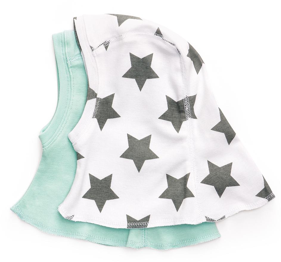 Чепчик детский Happy Baby, цвет: белый, мятный, 2 шт. 90012. Размер 56 шапочки и чепчики котмаркот шапочка чепчик киты