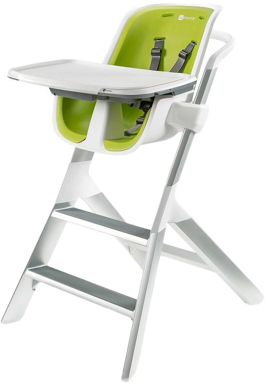 4moms Стульчик для кормления цвет белый зеленый