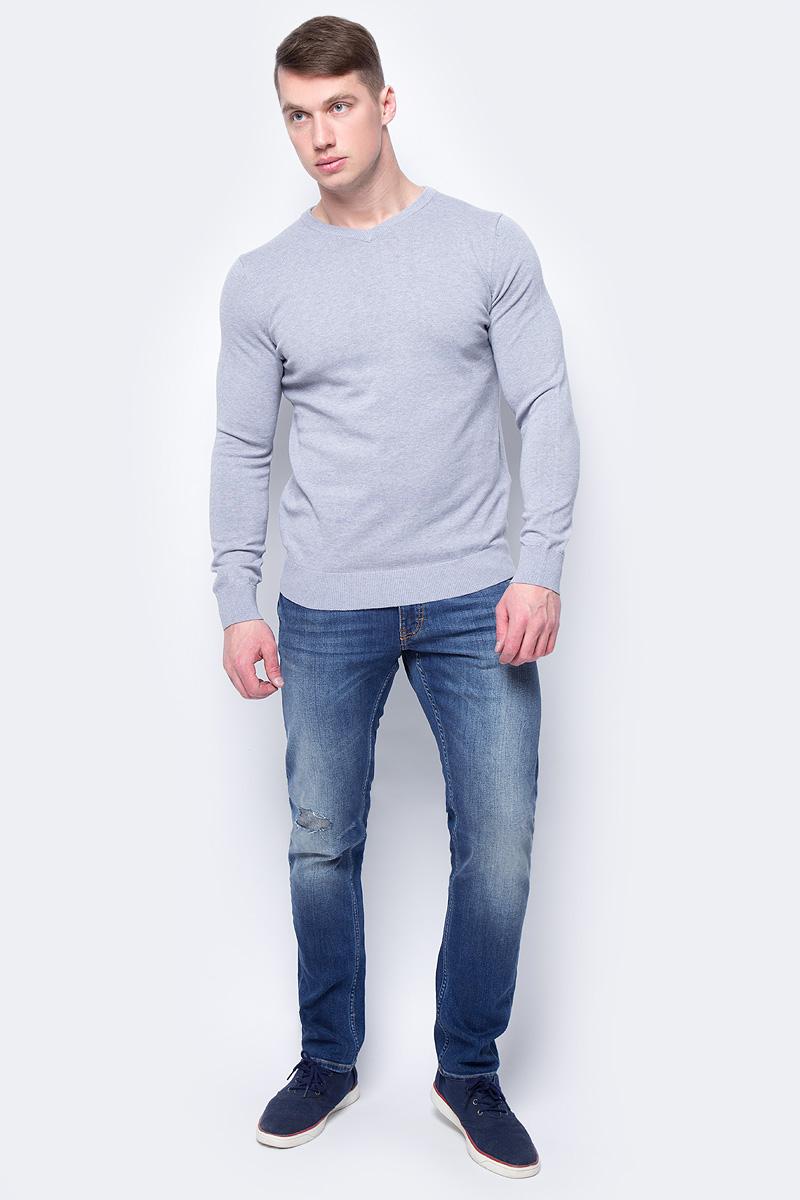 Джемпер мужской Sela, цвет: серый. JR-214/857-8152. Размер M (48)JR-214/857-8152