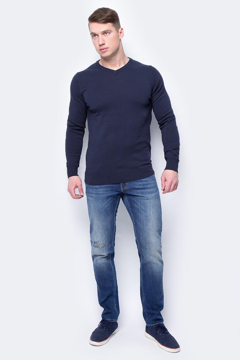 Джемпер мужской Sela, цвет: темно-синий. JR-214/857-8152. Размер XXL (54)JR-214/857-8152