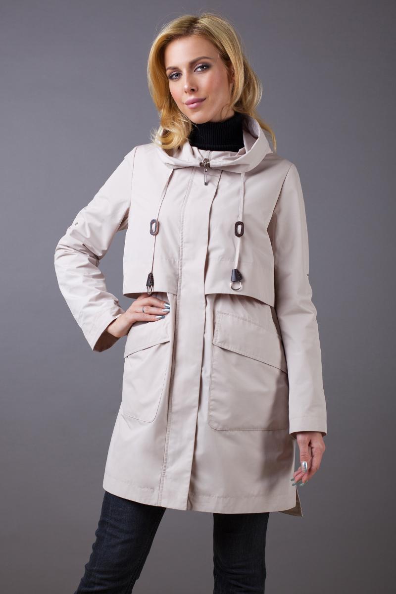 Куртка женская Malinardi, цвет: бежевый. MR18C-W8102. Размер S (42)MR18C-W8102(561)Оригинальная женская куртка Malinardi, выполненная из высококачественного материала на основе полиэстера, отлично дополнит повседневный образ. Приталенная модель с капюшоном и воротником-стойкой, надежно защищающим от ветра, застегивается на молнию с ветрозащитной планкой на кнопках и дополнена двумя накладными карманами с клапанами на кнопках. Линию талии подчеркивает вшитая резинка.