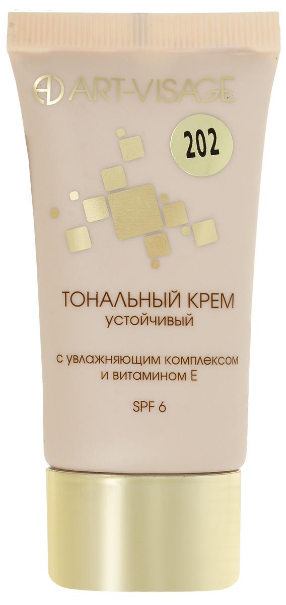 Art-Visage Тональный крем увлажняющий, тон 202, 25 г043390Ровный цвет лица на 15 часов! Плотная текстура без эффекта маски. Инновационный компонент Soft focus effect подстроится под цвет вашей кожи! Формула, созданная на основе передовых технологий, обеспечивает исключительную стойкость тонального крема UV-фильтры для защиты кожи от вредного воздействия солнечных лучей; Витамин Е для сохранения молодости кожи.