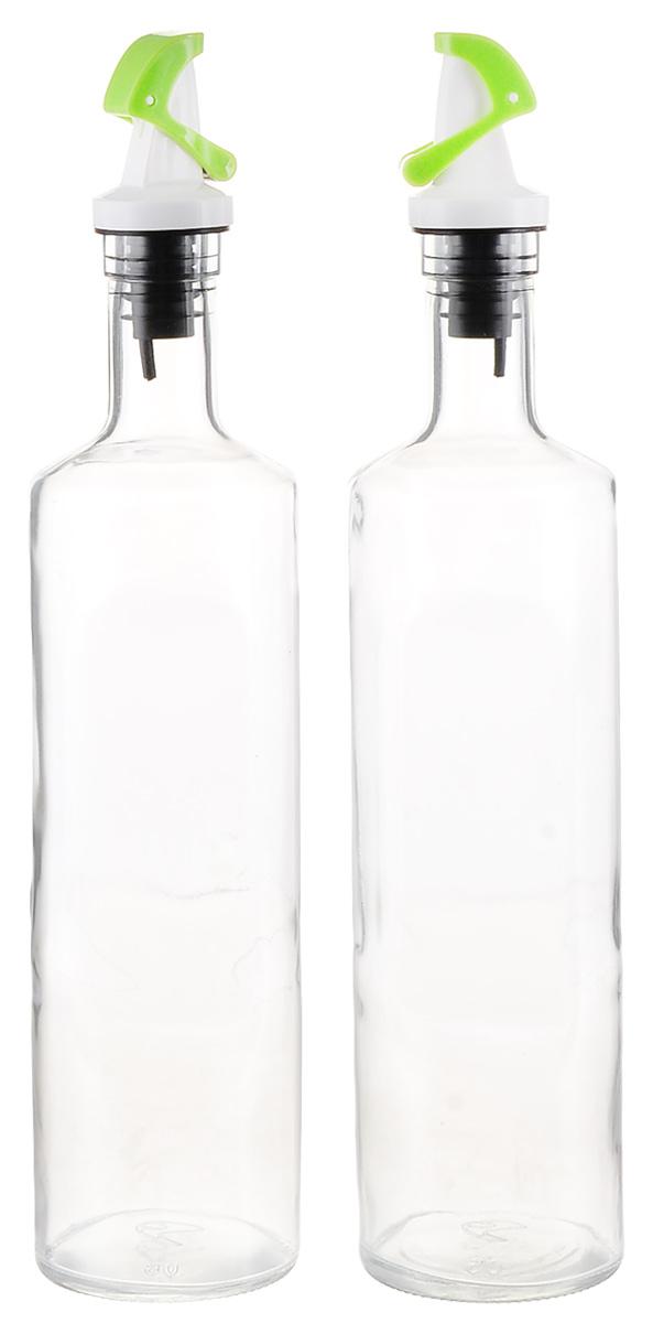"""Набор """"SinoGlass"""" состоит из 2 емкостей для хранения масла и уксуса. Изделия выполнены из прочного стекла. Специальный дозатор позволяет  экономично расходовать продукт и не добавлять лишнего.  Такой набор емкостей стильно дополнит интерьер кухни и прекрасно послужит для хранения масла и уксуса. Отличный подарок к любому случаю,  который порадует любую хозяйку.  Размер емкости: 31 х 6,5 х 6,5 см"""