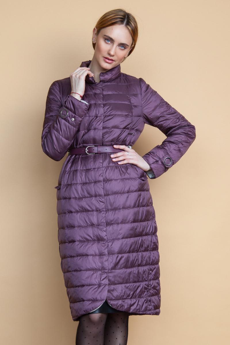 Куртка женская Clasna, цвет: марсала. CW18C-038ACW. Размер: L (46)CW18C-038ACW(802)