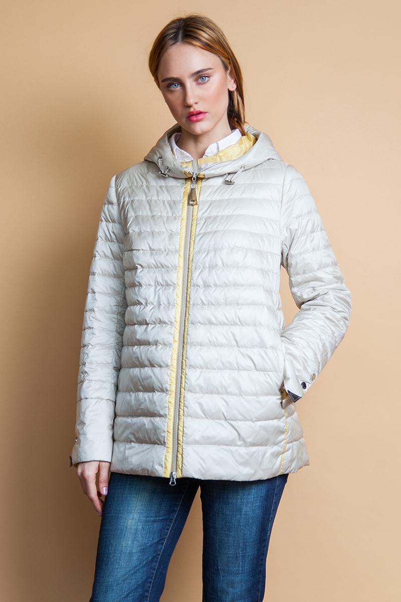 Куртка женская Clasna, цвет: молочный. CW18C-060CW. Размер XXL (50) куртка утепленная clasna clasna cl016ewyfa03