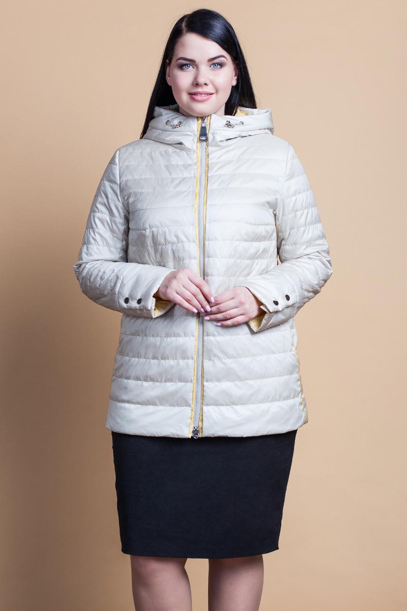 Куртка женская Clasna, цвет: молочный. CW18C-060CWL. Размер: 48CW18C-060CWL(902)