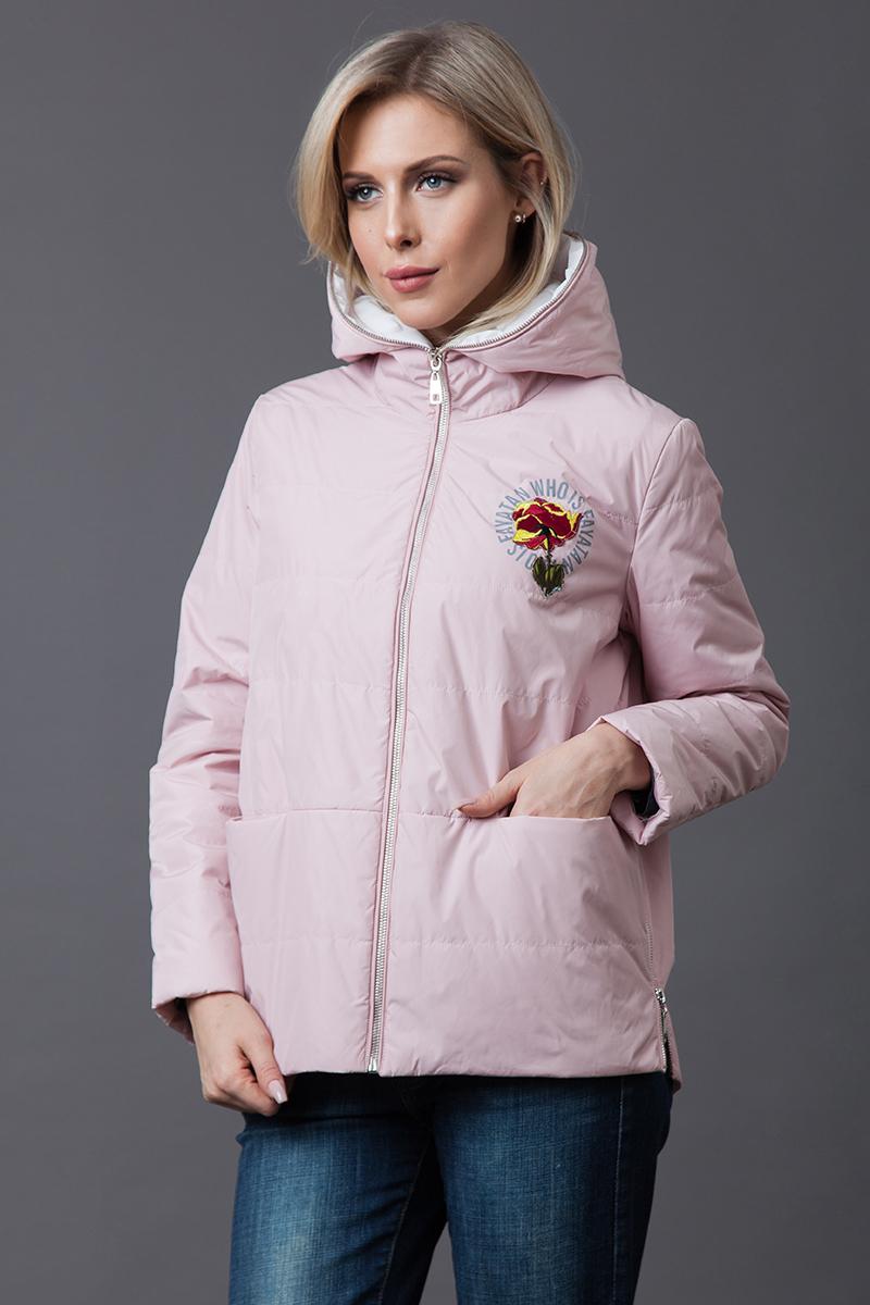 Купить Куртка женская Malinardi, цвет: розовый. MR18C-18222. Размер L (46)