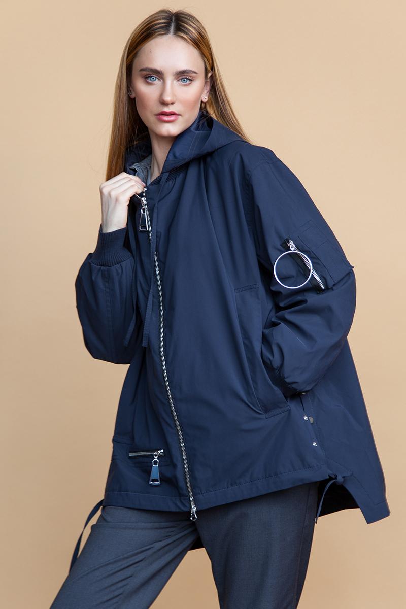 Куртка женская Clasna, цвет: темно-синий. CW18C-048CW. Размер: M (44)CW18C-048CW(587)