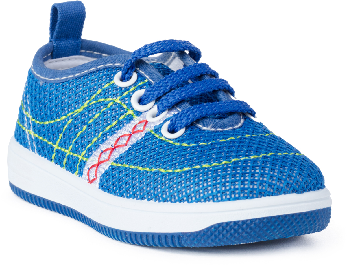 Кроссовки для девочки PlayToday Baby, цвет: синий. 188235. Размер 22188235Кроссовки на шнуровке PlayToday выполнены из стеганого текстиля. Подкладка изготовлена из натурального хлопка. Легкая подошва обеспечивает оптимальный комфорт.