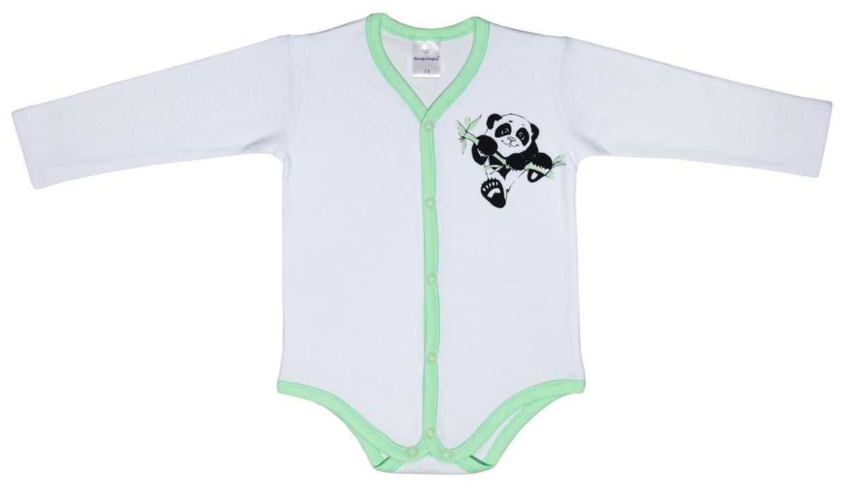 Боди для мальчика Мамуляндия Панда, цвет: белый. 17-901. Размер 5617-901Боди для мальчика Мамуляндия Панда изготовлено из натурального хлопка и оформлено принтом. Модель с длинными рукавами имеет удобные застежки-кнопки по всей длине и на ластовице, которые помогают легко переодеть ребенка или сменить подгузник.Боди полностью соответствует особенностям жизни малыша в ранний период, не стесняя и не ограничивая его в движениях!