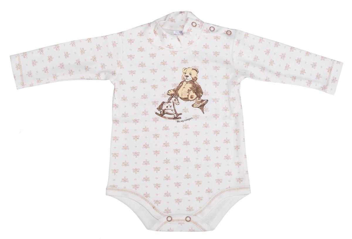 Боди-водолазка детская Мамуляндия, цвет: бежевый. 15-516. Размер 80