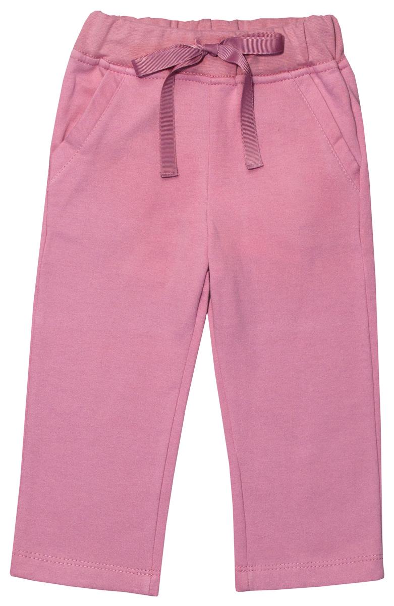 Брюки для девочки Мамуляндия Прогулка по облакам, цвет: розовый. 17-1412. Размер 8017-1412
