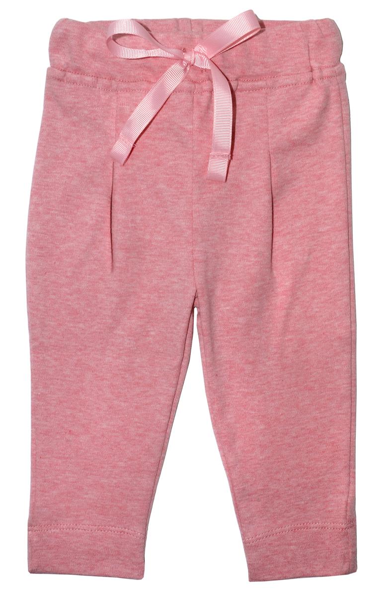 Брюки для девочки Мамуляндия Цветочная, цвет: розовый. 17-2408. Размер 80