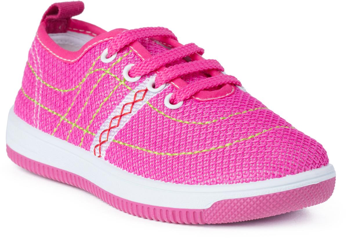 Кроссовки для девочки PlayToday, цвет: розовый. 182250. Размер 25182250Кроссовки на шнуровке PlayToday выполнены из стеганого текстиля sandwich mesh. Легкая подошва обеспечивает оптимальный комфорт. Подкладка изготовлена из текстиля.