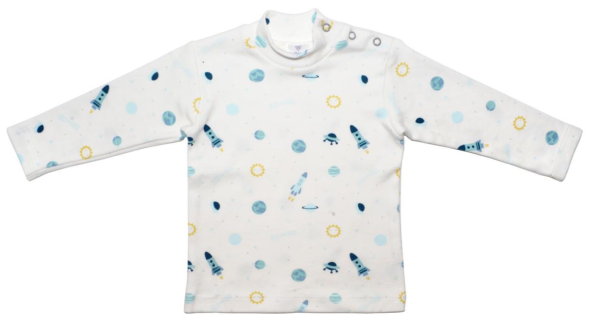 Водолазка для мальчика Мамуляндия В космос, цвет: белый. 17-2310. Размер 86