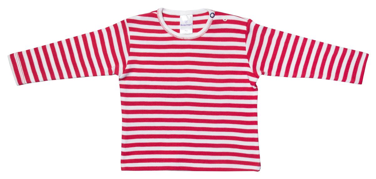 Футболка с длинным рукавом для мальчика Мамуляндия Маяк, цвет: красный, белый. 17-2106. Размер 92 футболка с длинным рукавом для мальчика let s go цвет красный 6220 размер 98