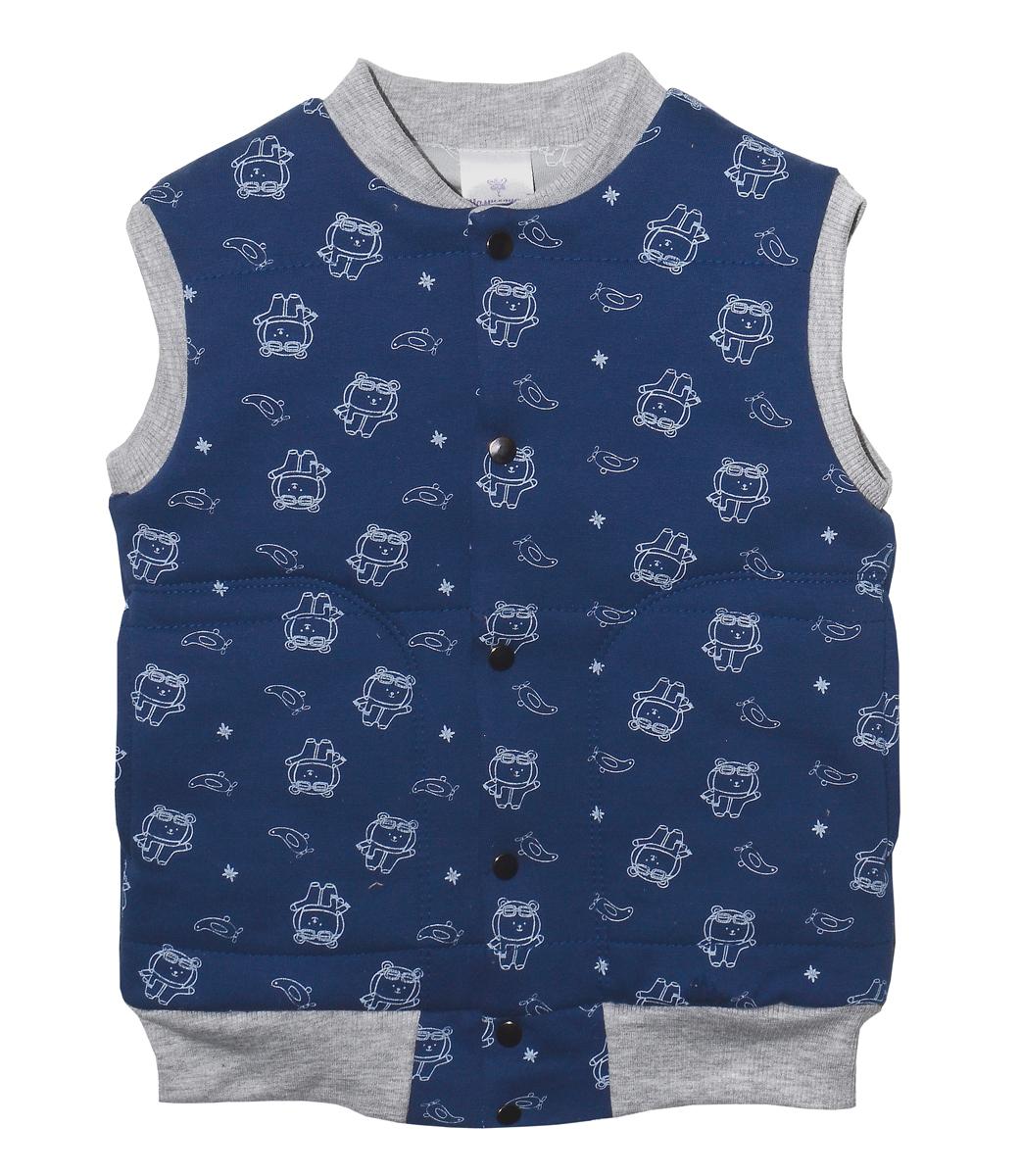 Жилет для мальчика Мамуляндия Пилоты, цвет: синий. 17-2500. Размер 6817-2500
