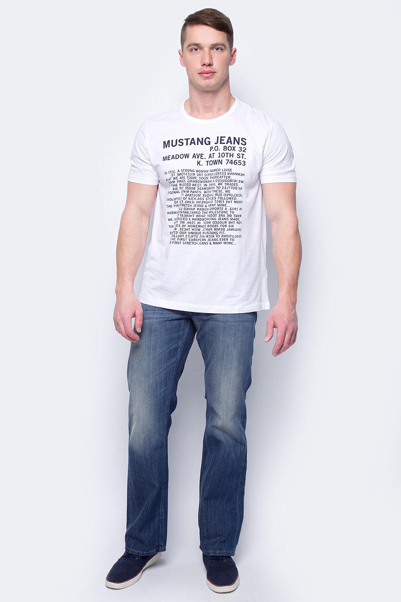 Футболка мужская Mustang History Tee, цвет: белый. 1005307-2045. Размер M (48)1005307-2045