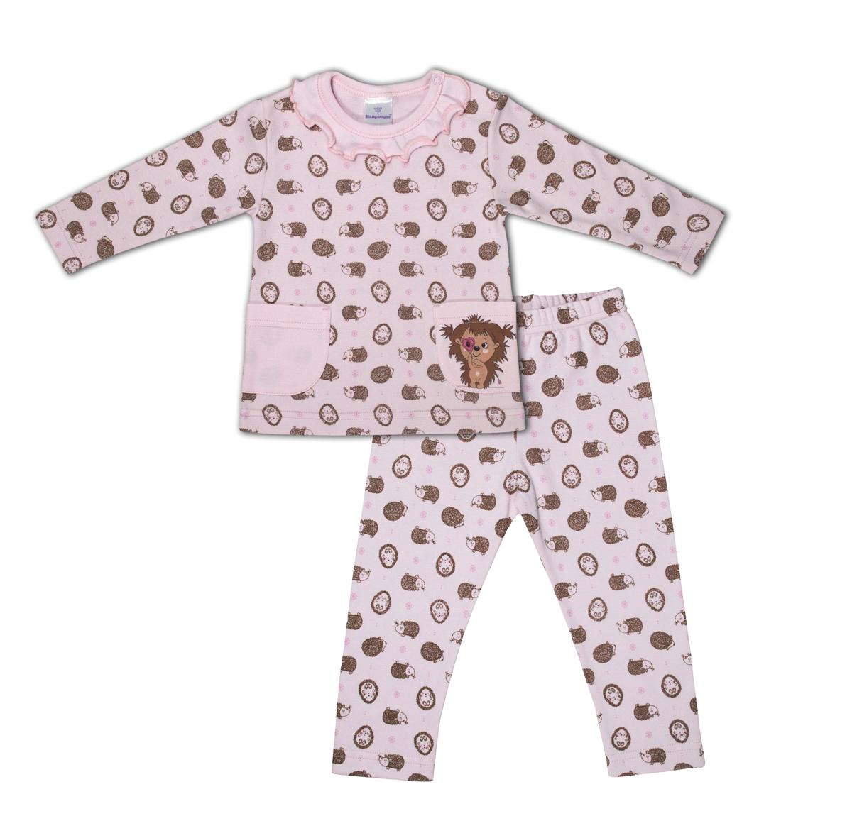 Комплект одежды для девочки Мамуляндия: брюки, джемпер, цвет: розовый. 17-19004. Размер 86 водолазки и лонгсливы мамуляндия джемпер ягодки 17 206