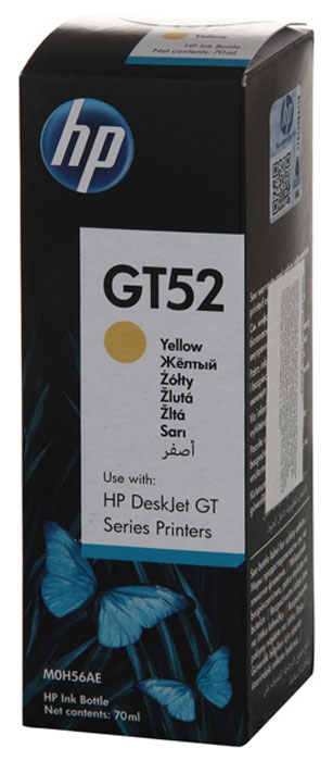 HP GT52 (M0H56AE), Yellow чернила для HP DeskJet GT 5810/5820, Ink Tank 315/415