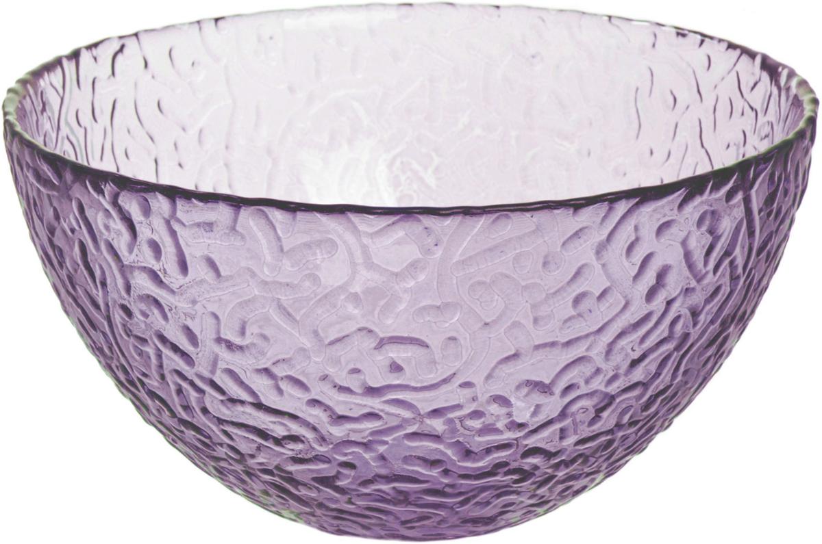 Салатник Nina Glass Ажур, цвет: сиреневый, диаметр 12 см салатник nina glass ажур цвет сиреневый диаметр 16 см