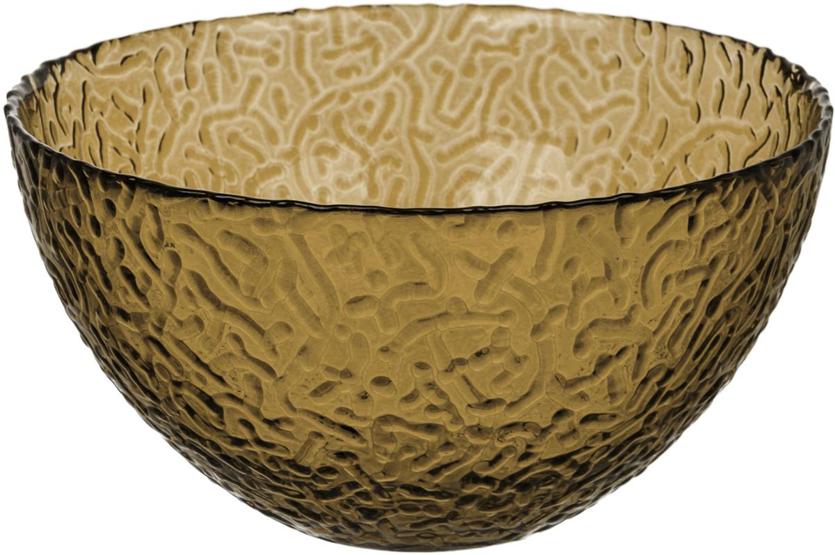 Салатник Nina Glass Ажур, цвет: серый, диаметр 20 см салатник nina glass ажур цвет сиреневый диаметр 16 см