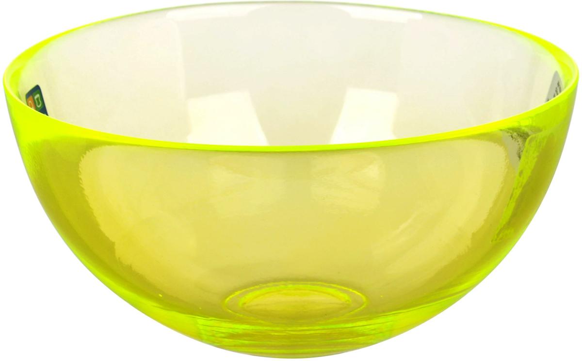 Салатник Nina Glass Лагуна, цвет: желтый, диаметр 15 см салатник nina glass ажур цвет сиреневый диаметр 16 см
