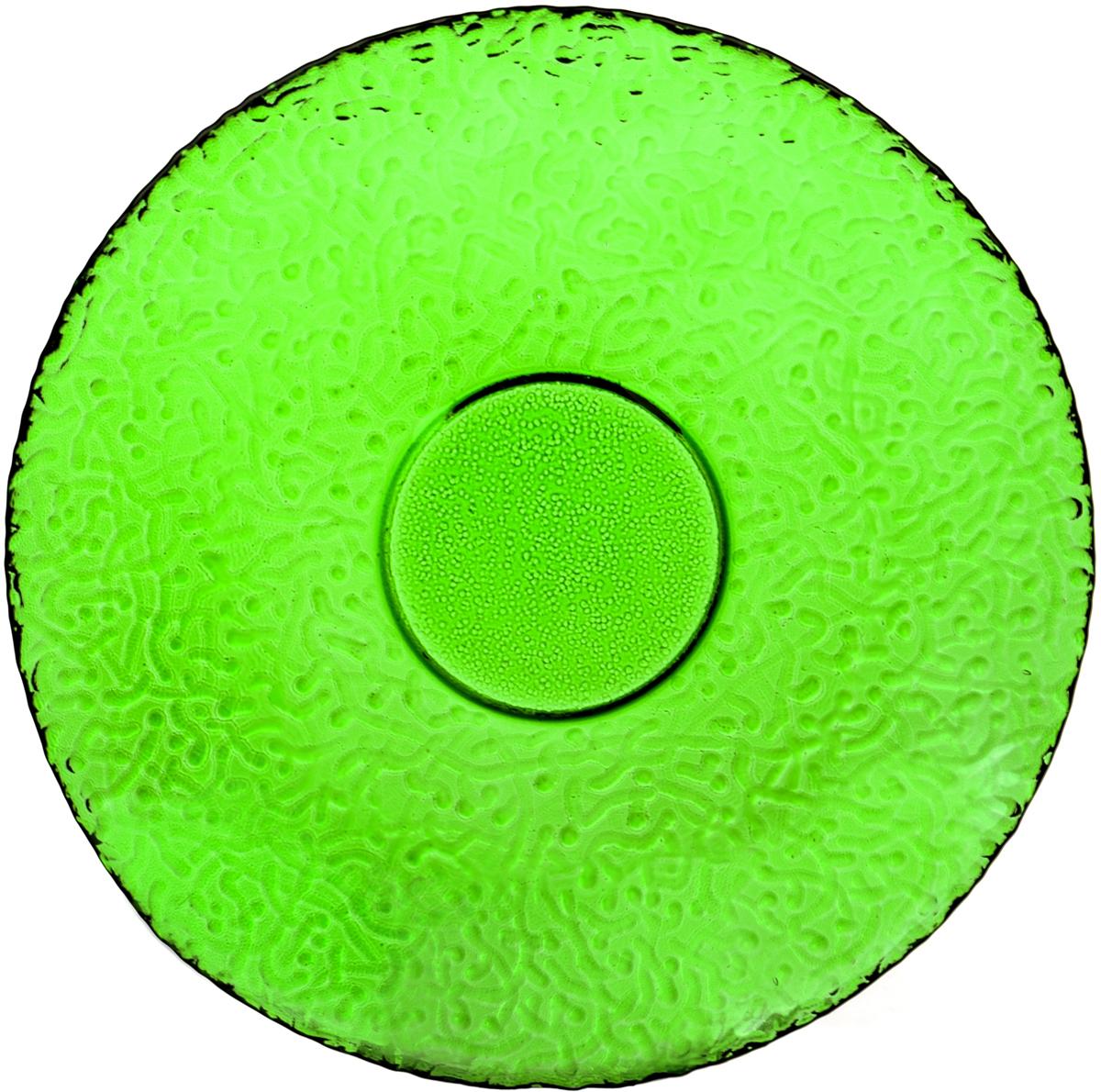 Тарелка десертная Nina Glass Ажур, цвет: зеленый, диаметр 21 смNG83-070GСтеклянная посуда Никольского завода светотехнического стекла, известная под торговой маркой NinaGlass, успешно продается в российских магазинах. Продукция выглядит презентабельно, ассортимент весьма широк. Яркие, емкие, приятные тактильно салатники будут шикарно смотреться на обеденном столе. Салатники и блюда предназначены для сервировки стола. Пригодны для ежедневного использования.Цветные салатники и тарелки NinaGlass нельзя использовать в СВЧ и мыть в ПММ.