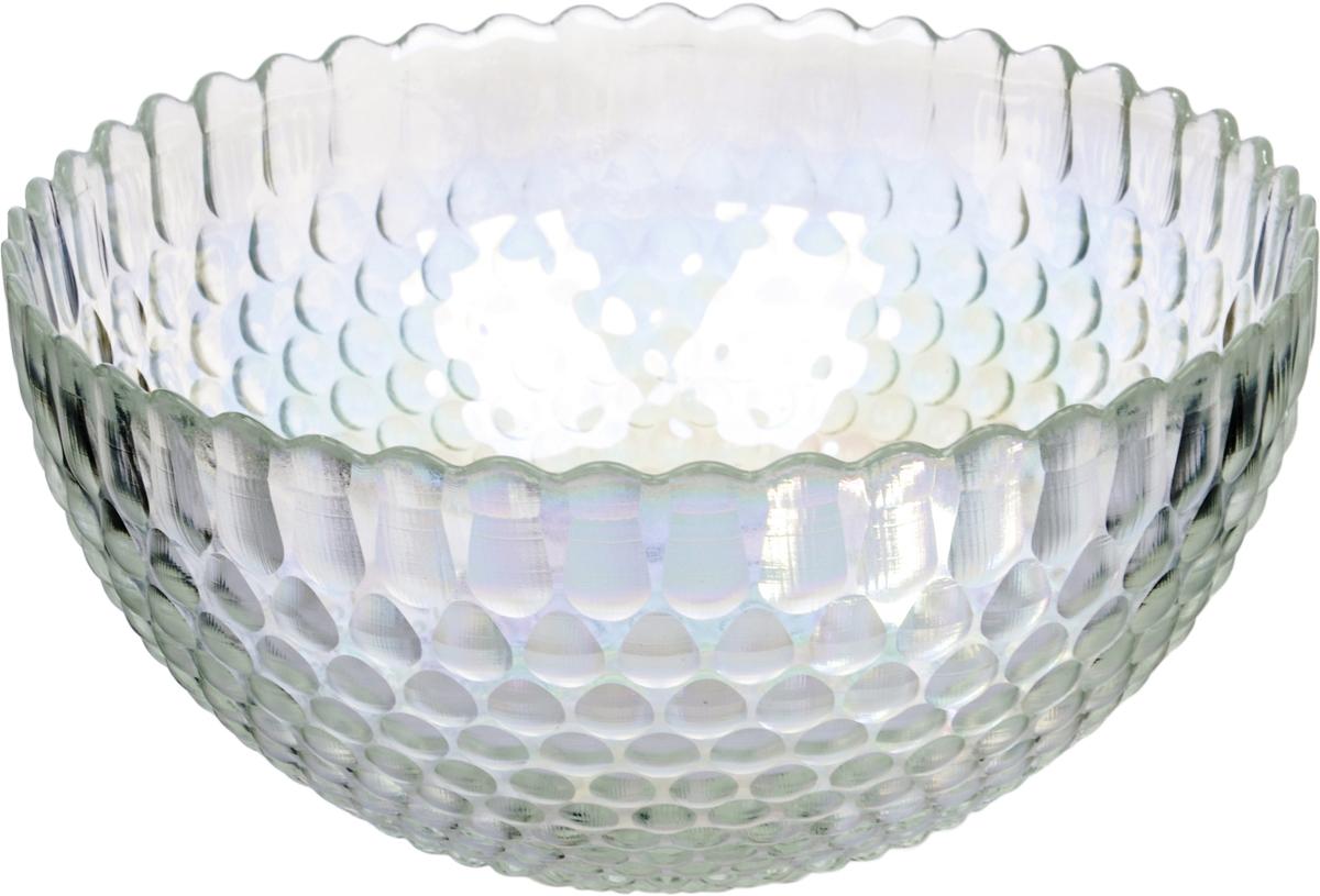 Салатник Nina Glass Роса, цвет: прозрачный, диаметр 28 см салатник nina glass ажур цвет сиреневый диаметр 16 см